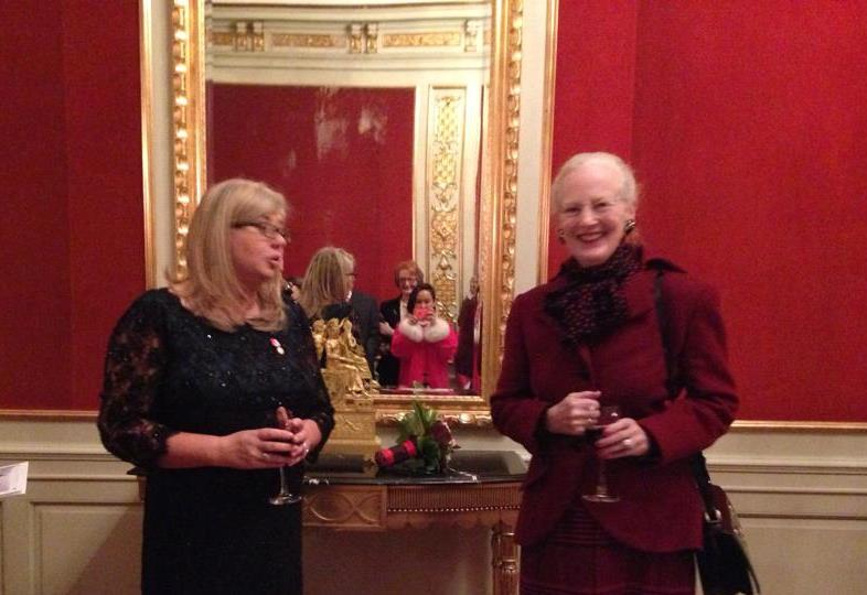 Ann Andreasen and the Queen of Denmark